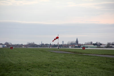View down runway 06 at Kortrijk