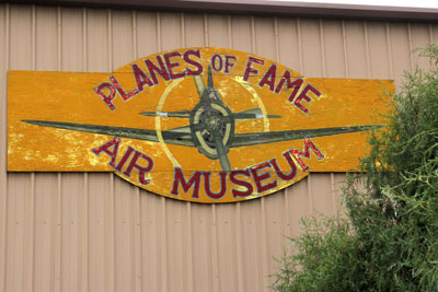 Entering the Planes of Fame museum