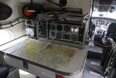 Navigator desk inside the Constellation