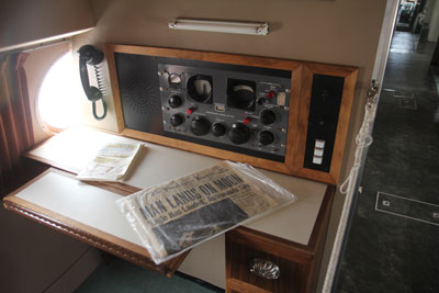 General MacArthur's private desk inside the Constellation