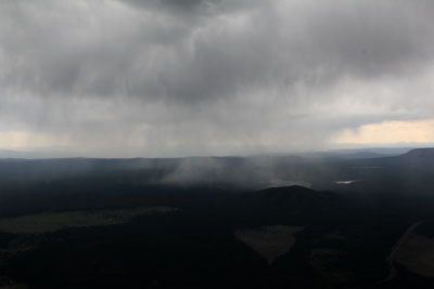 Raining when flying back