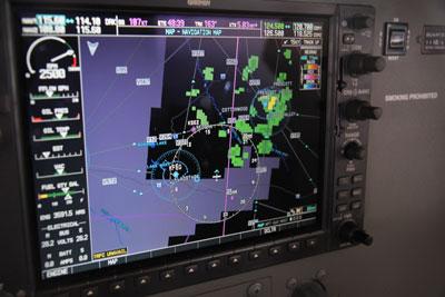 Rain confirmed by radar returns
