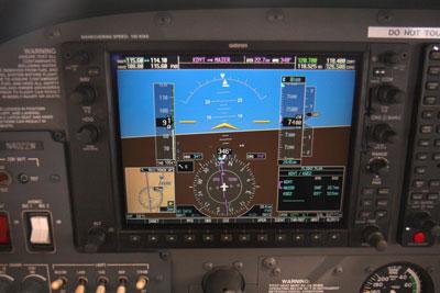 G1000 cockpit heading north