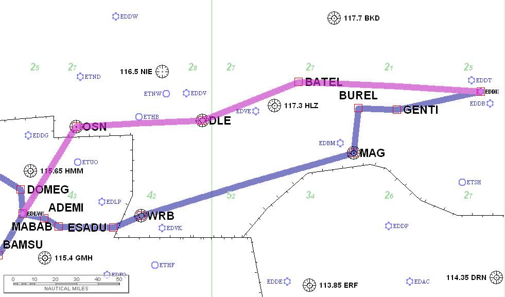 EDLW-EDDI routing