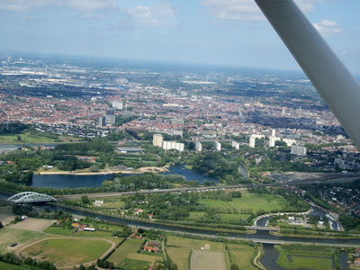 Gent from the air