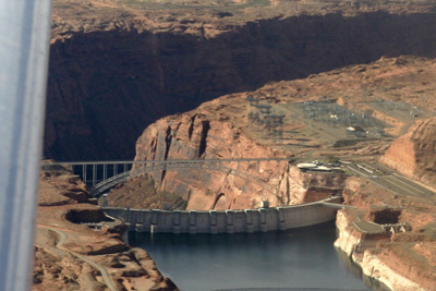 Glen canyon, dam and bridge