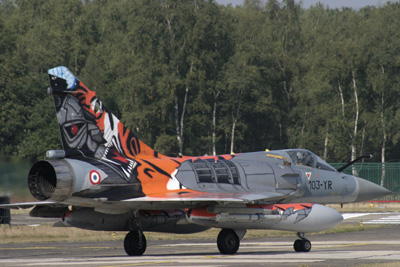 French Tiger Mirage 2000 taxying