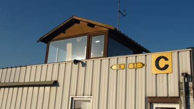 Control tower of Saint_Ghislain airport (EBSG)