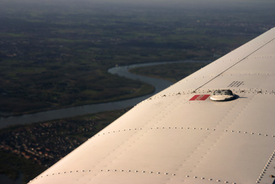The river Schelde under the wings
