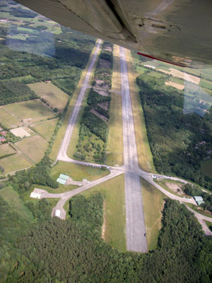 Ursel airfield from the sky