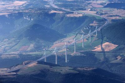 Viaduc de Millau from the air