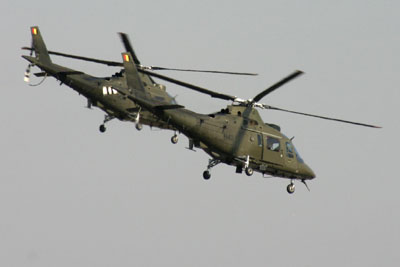 Two Belgian Agusta A-109 in formation