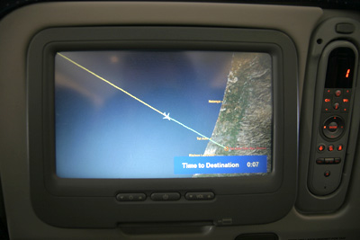 Approaching Tel Aviv - we crossed !