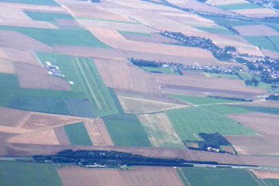 Arras airport from the air