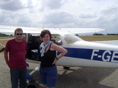 Posing at the Cessna 172