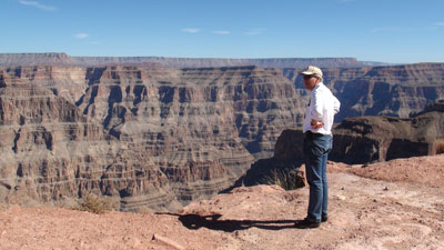At the rim of teh Canyon
