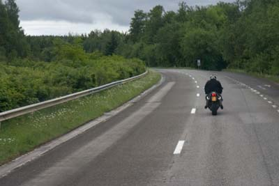 Motorbike in the Ardennes