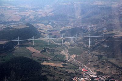 The large bridge in Millau