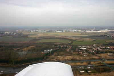 Circling to land runway 29 at Valenciennes LFAV