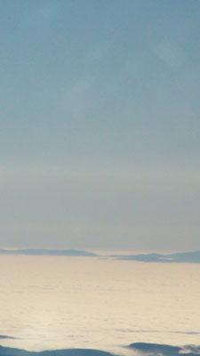 The cloud deck surrounding le Morvan