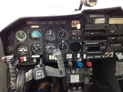 Cockpit of the Mooney