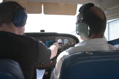 Crew prepares the cockpit