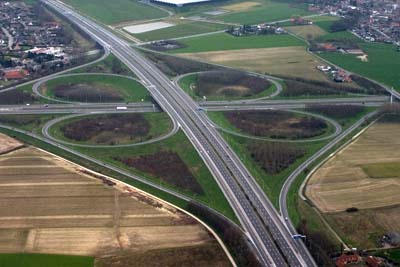 A17 and E17 crossing in Aalbeke