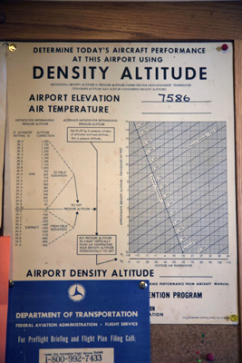 Density Altitude calculation for Bryce Airport