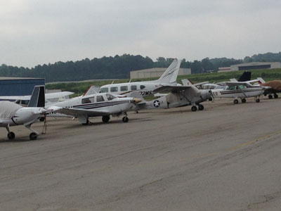 Flightline at Blackbushe