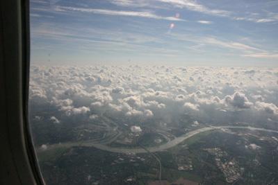 Friendly clouds on our way to Berlin
