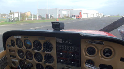 View from the cockpit in Merville (LFQT)