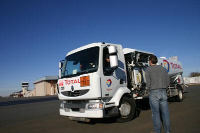 Fuel truck in Rodez