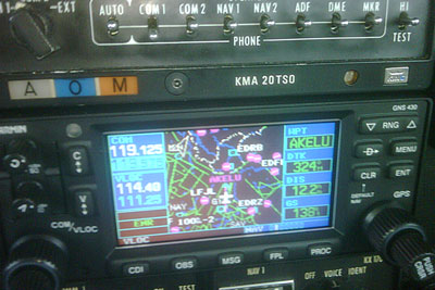 Garmin GNS430 towards Luxemburg airspace