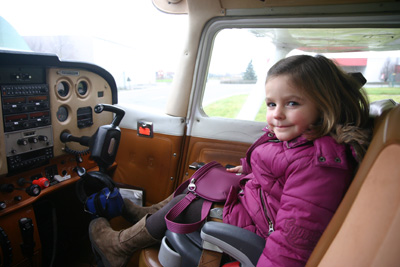 Daughter as co-pilot