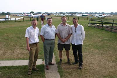 The pilots at Headcorn Airfield