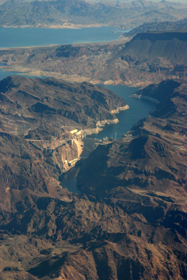 Hoover Dam from 5500 ft