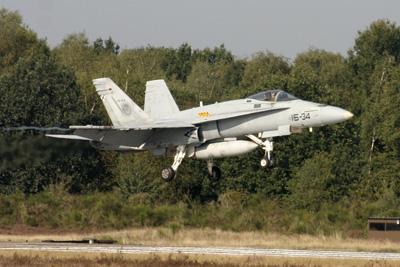 Spanish F/A 18 Hornet landing