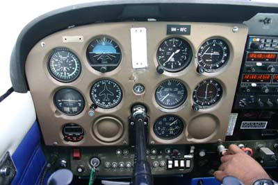 Our cockpit 9M-RFC