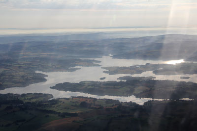 Lac de Pareloup from the air