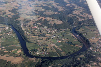 Crossing teh Lot river