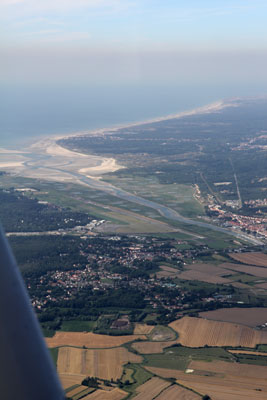 Airpor of Le Touquet from the air