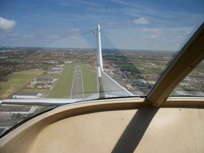 Leaving Kortrijk airport behind