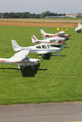 Airplane line-up in Dieppe
