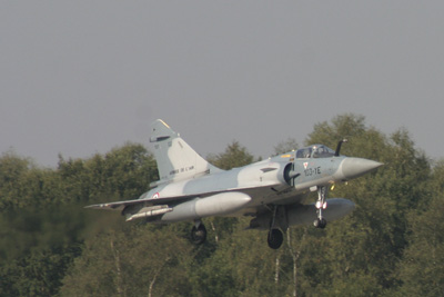 French Mirage 2000 landing