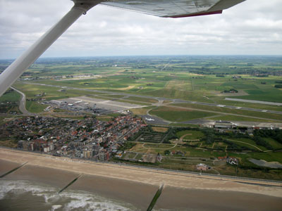 Oostende airport from the sky