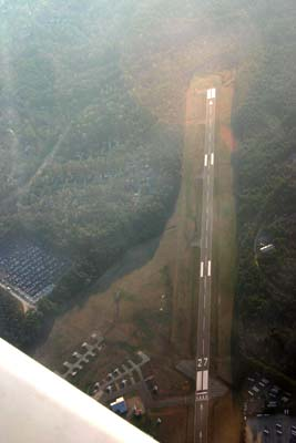 Overflying Chapel Hill airport