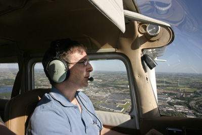 Pilot Luc working his approach into Kortrijk (EBKT)