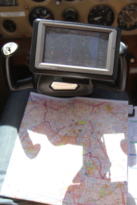 Classic chart and modern GPS
