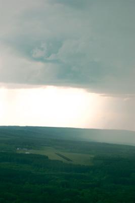 Rainshower just north of Spa aerodrome (EBSP)