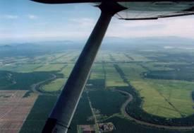 Boven de rijstvelden van Kedah